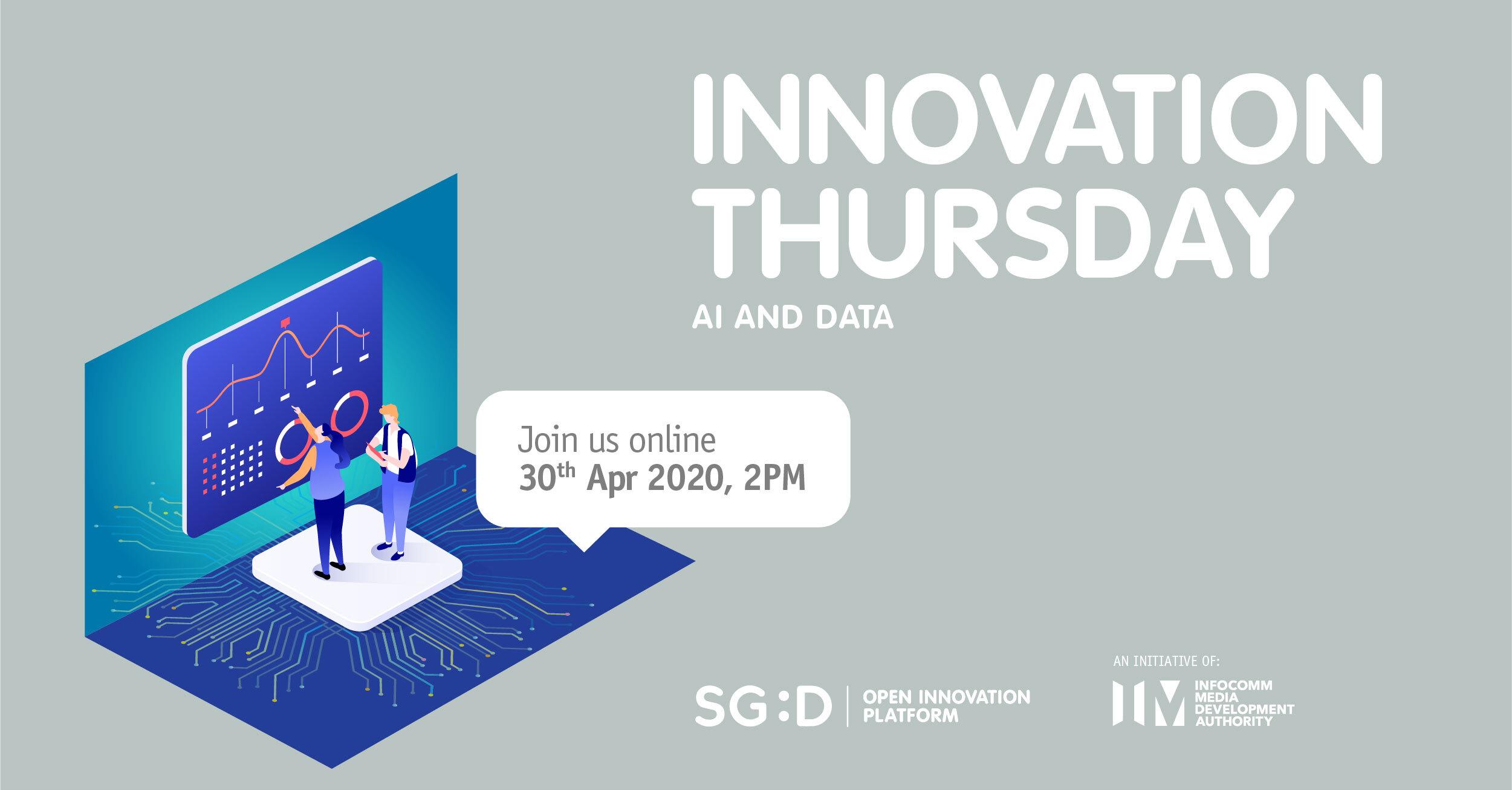Innovation Thursday 30 Apr - AI and Data